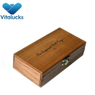 Hot sale Custom cheap vanished wooden cigarette box