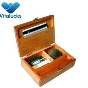 Hot sale Custom cheap vanished wooden cigarette box
