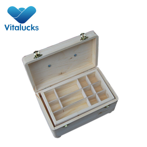 Custom logo gift wooden box for ring and earring