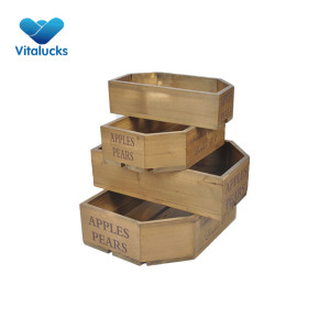 Recycled storage wooden crate 4 sizes