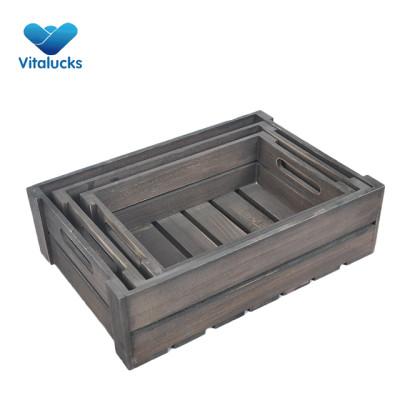 Cheap wooden crates wholesale 3 sizes