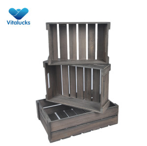 Cheap wooden crates wholesale 3 sizes