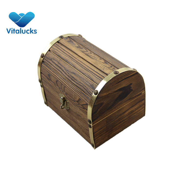 wooden hinged box with clasp