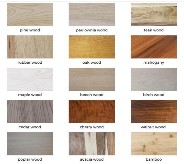 wooden types materials