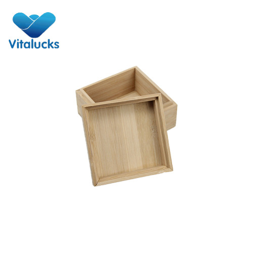 Small wooden collection box for crafts