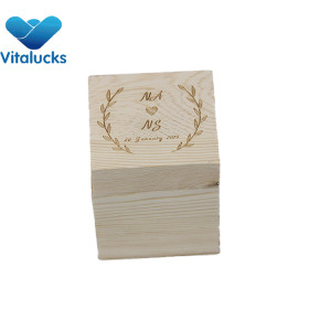 Pine wood gift box storage wooden box