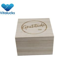 Kids wooden toy storage box paulownia material