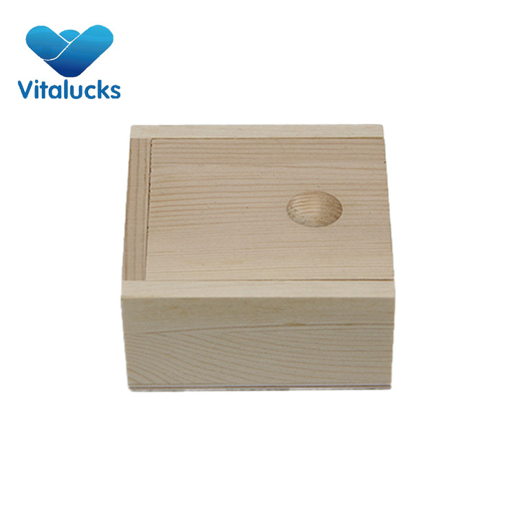 unfinished wooden storage boxes