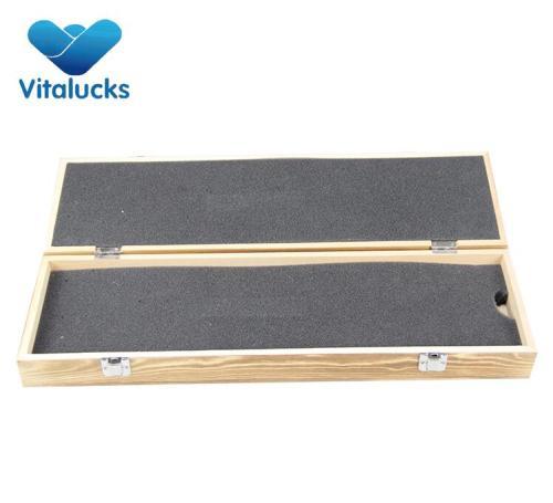 Rectangular wooden fishing tackle storage box