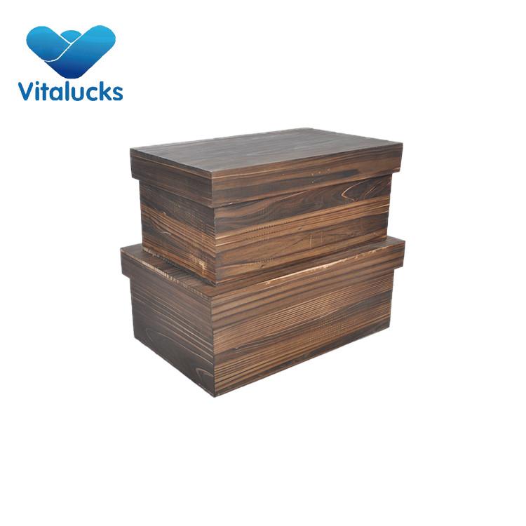 set 2 wooden box