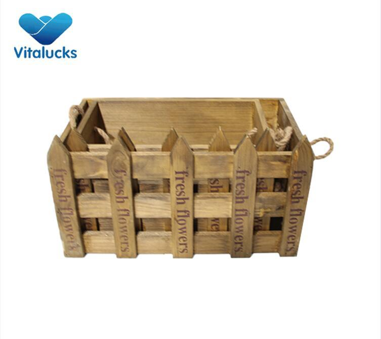 rustic wood crates decorative