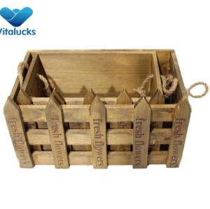 Wooden wine gift crate set 2