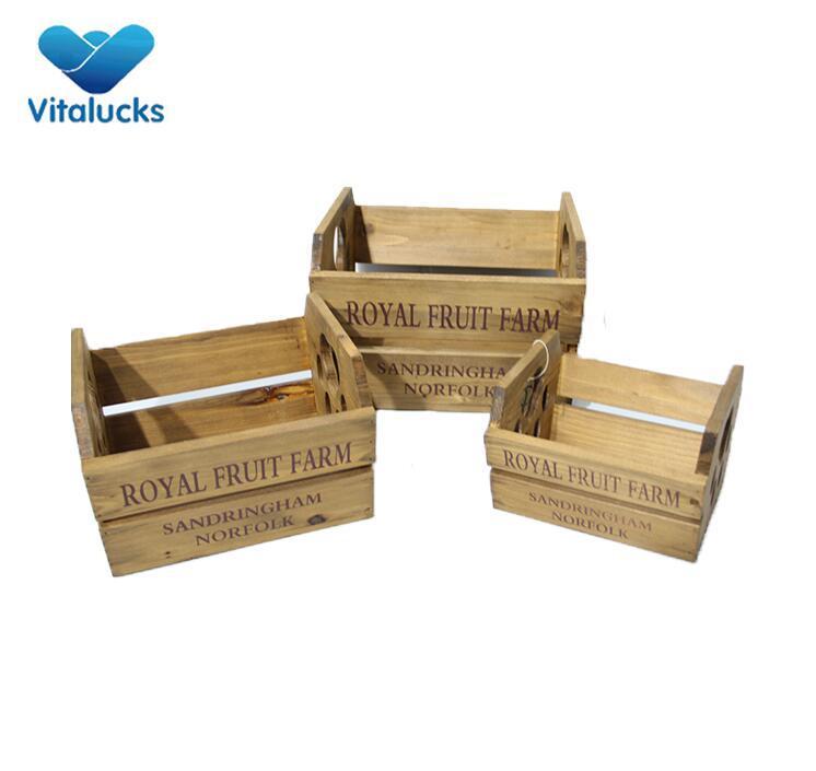 wooden flower crates