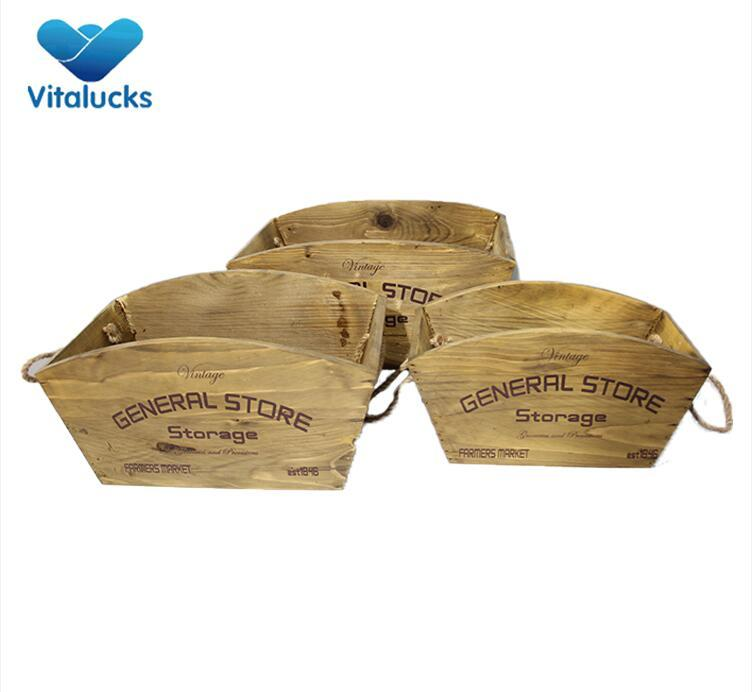 wooden flower crates