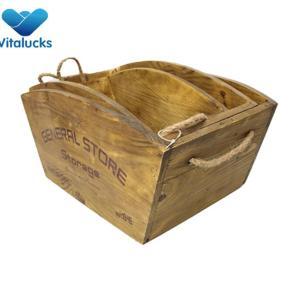 Wholesale wood wine bottle crate