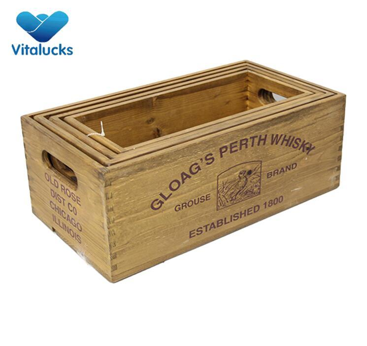 wooden rustic crate