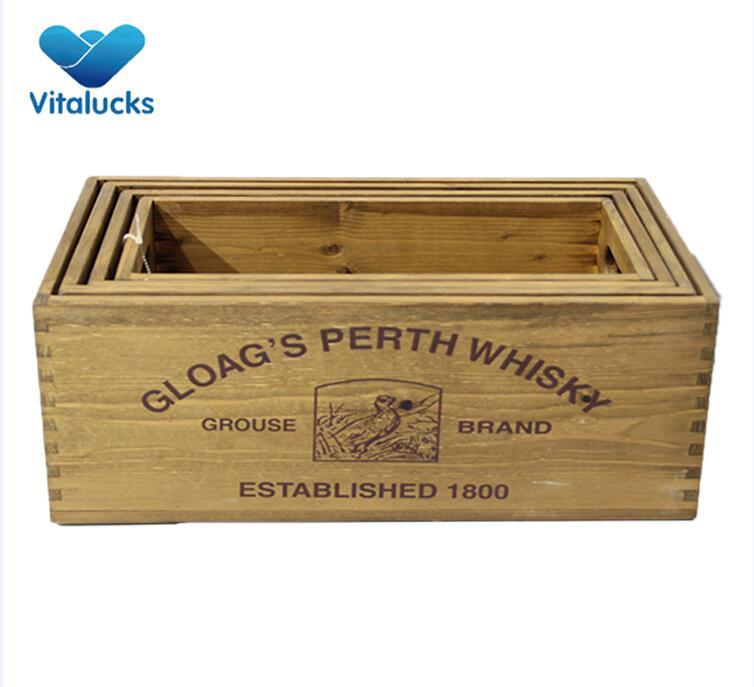 wooden organizer crates