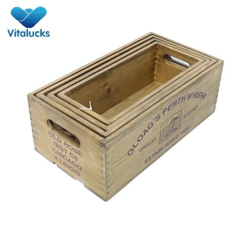 Wholesale wooden crates set 4 by manufacturer