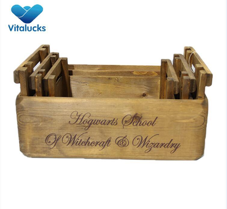 wooden retail crate