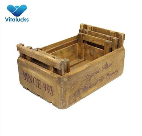 Wooden crates wholesale for birthday gift
