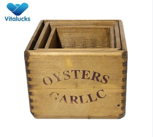 Factory custom size toy wooden storage crate