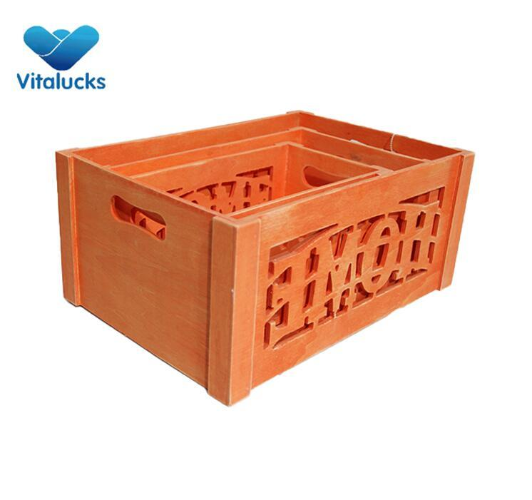 wooden crate storage box wine