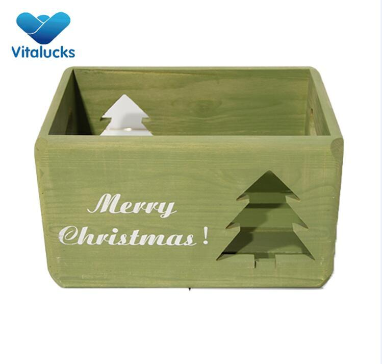 christmas wooden crate