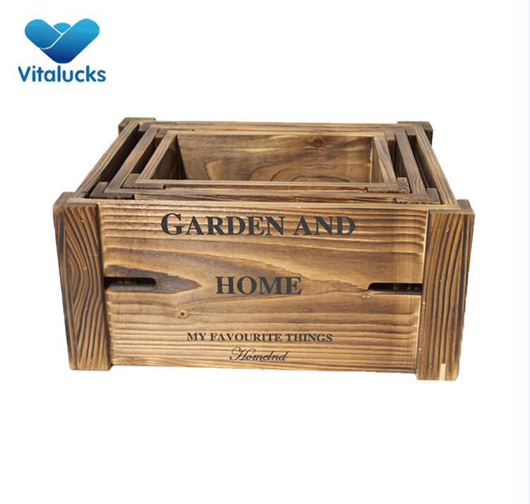 wood crate for plant