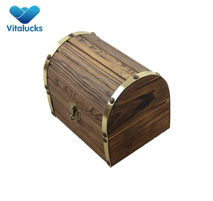 custom square wood storage box
