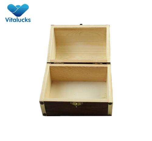 Solid wood jewelry storage box rustic color