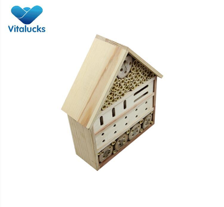 wooden house for bug bee