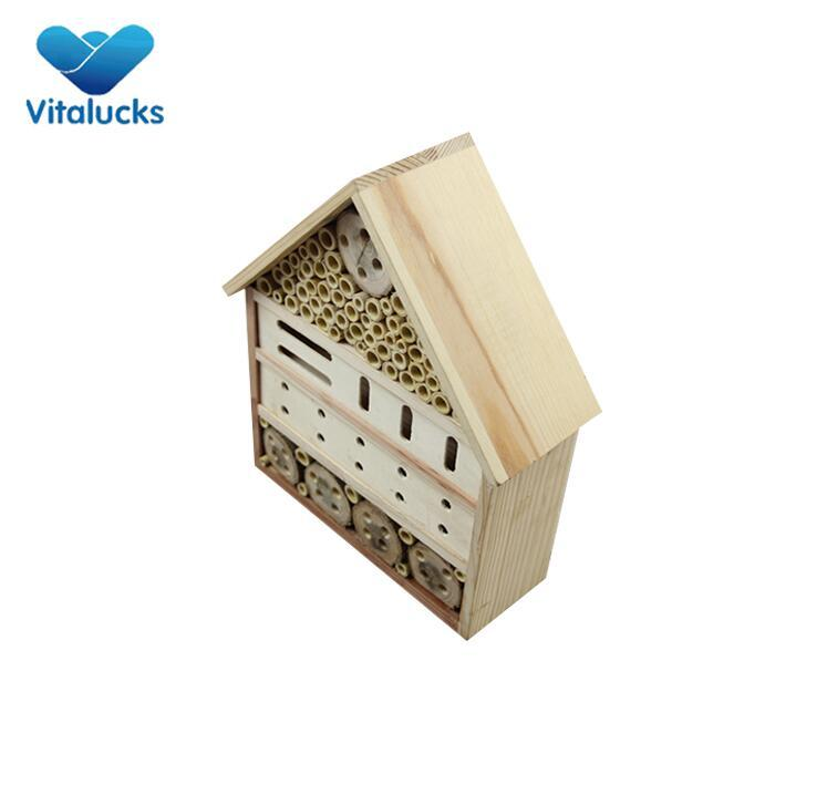 solid wood insect hotel
