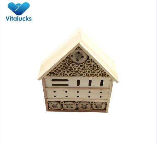 Wooden insect bug hotel  garden shelter box