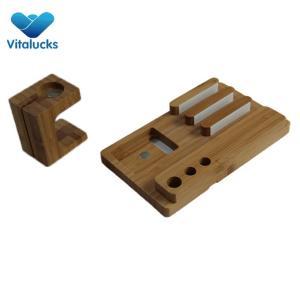 Modern high quality bamboo pen holder organizer