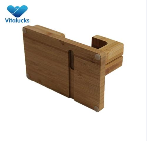 Modern high quality bamboo pen holder organizer