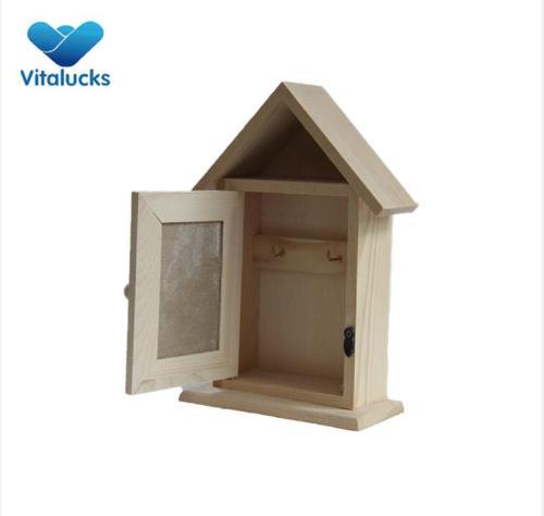 Wooden decorative key box holder