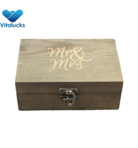 Jewelry ring storage wooden box
