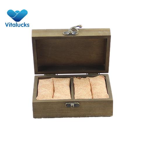 Jewelry ring storage wooden box