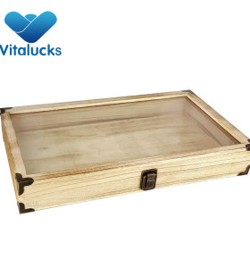 Wooden jewelry box paulownia material