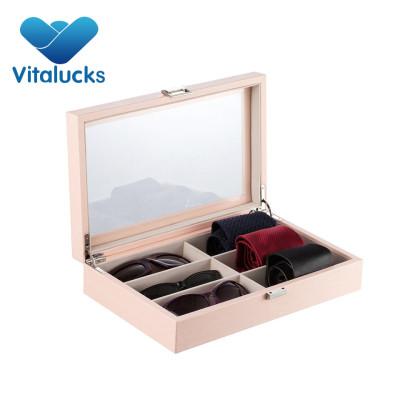 Wooden tie storage gift box