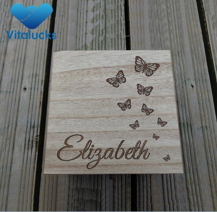 wooden gift storage box