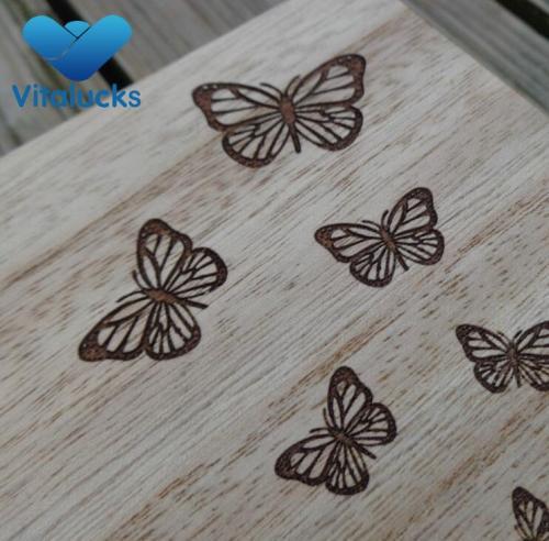 Custom storage wooden box paulownia wood engraved logo