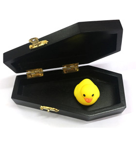 Customized decorative black color wood coffin box gift packaging box