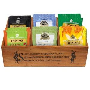 Customized wooden tea box with silk screen printing logo