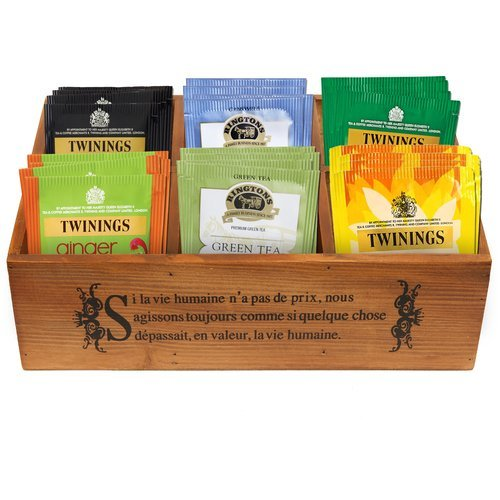 Customized wooden tea box with silk screen printing logo
