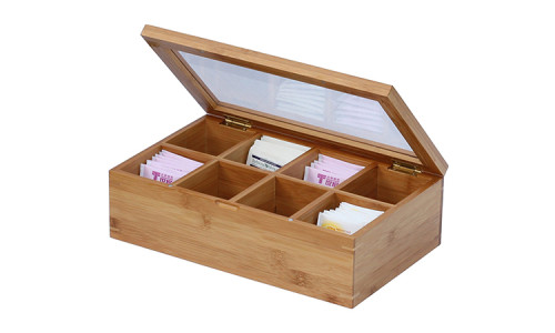 Handmade feature wood tea bags gift packaging box bamboo material