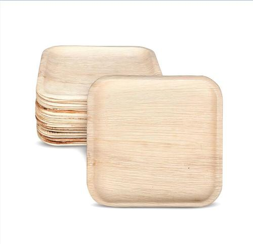 Compostable eco friendly areca palm leaf disposable square plates 25pcs 8inch 10inch