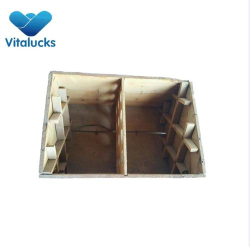 Wooden crate storage box for wine bottles outdoor use