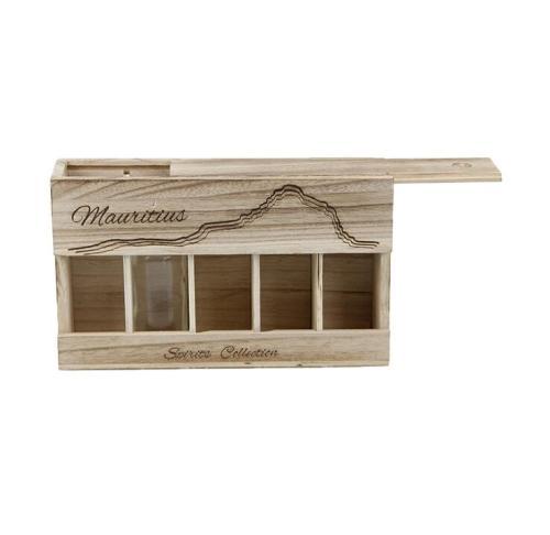 Wholesale wine wooden storage box 5pcs bottle packing