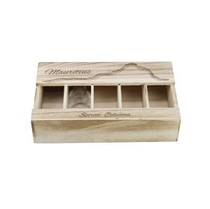 Wholesale wine wooden storage box 5pcs bottle packing